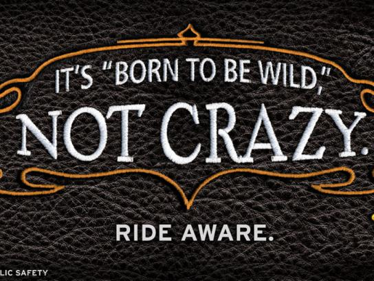 Utah Department of Public Safety Outdoor Ad -  Motorcycle Safety Campaign, Not crazy