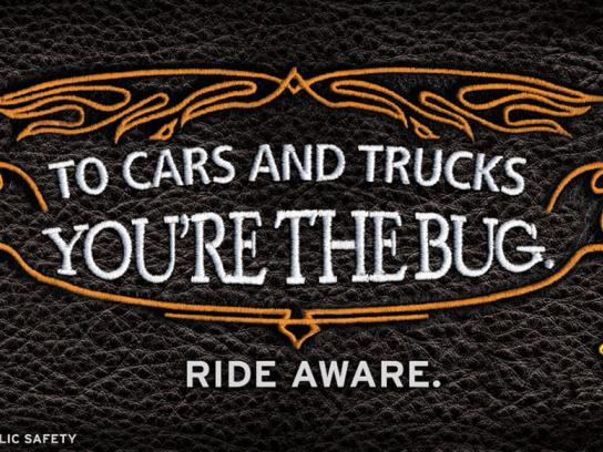 Utah Department of Public Safety Outdoor Ad -  Motorcycle Safety Campaign, Bug