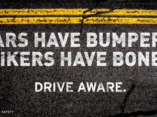 Utah Department of Public Safety Outdoor Ad -  Motorcycle Safety Campaign, Bones
