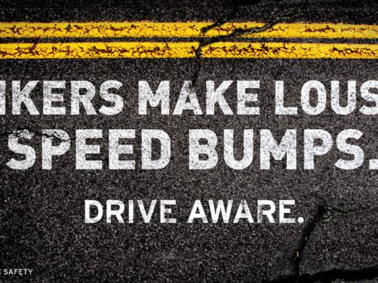 Utah Department of Public Safety Outdoor Ad -  Motorcycle Safety Campaign, Bumps