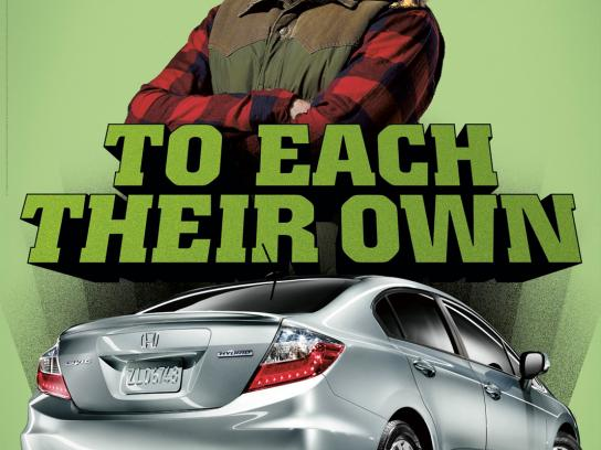 Honda Outdoor Ad -  Woodsman