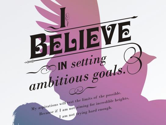 Presidium Print Ad -  I believe in setting ambitious goals