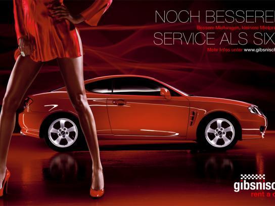 Sixt Print Ad -  Gibsnisch, 2