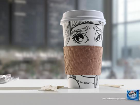 Trident Print Ad -  Coffee block, 2