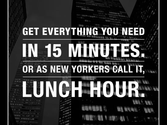 Duane Reade Print Ad -  Lunch hour