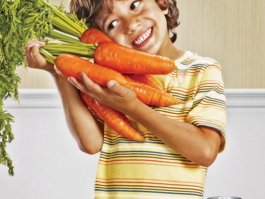 Chef Boyardee Print Ad -  Carrot Kid