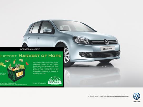 Volkswagen Print Ad -  Harvest of Hope
