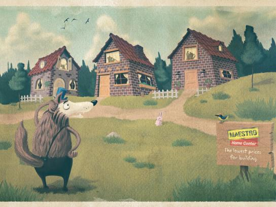 Maestro Print Ad -  Three Little Pigs
