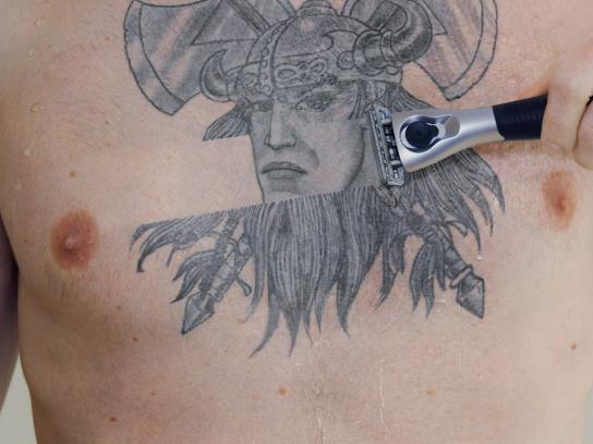 Schick Print Ad -  Tattoo, 2