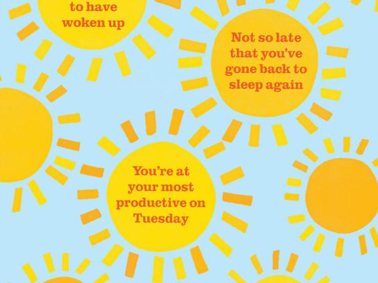 Tropicana Print Ad -  Your Daily Ray of Sunshine, Tuesday
