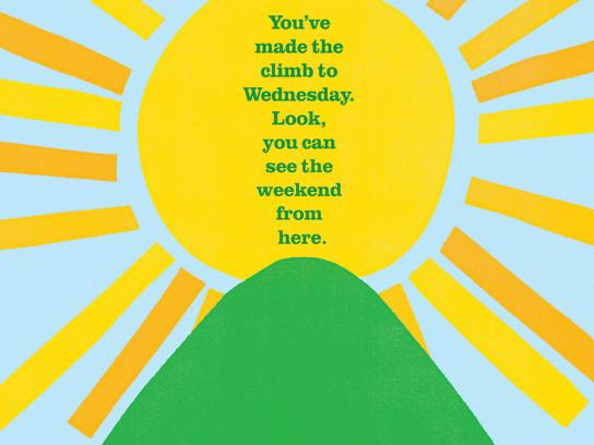 Tropicana Print Ad -  Your Daily Ray of Sunshine, Wednesday