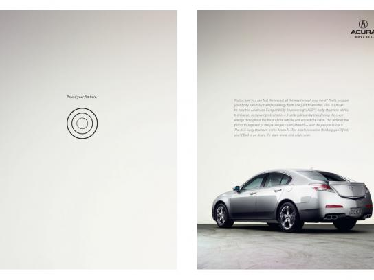 Acura Print Ad -  Pound Your Fist