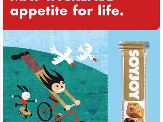 SoyJoy Print Ad -  Appetite for life