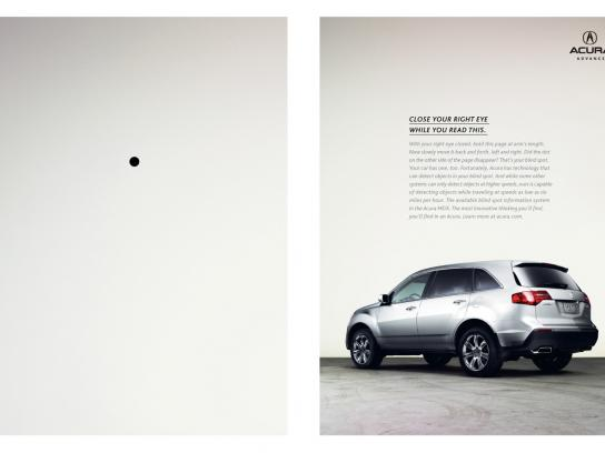 Acura Print Ad -  Blindspot