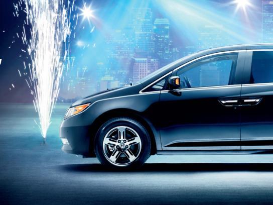 Honda Outdoor Ad -  Rock Van