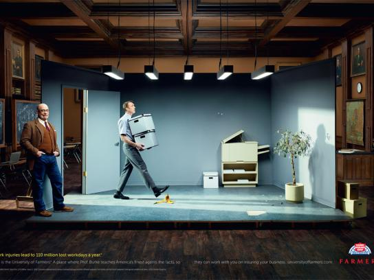 Farmers Insurance Print Ad -  Work Injuries