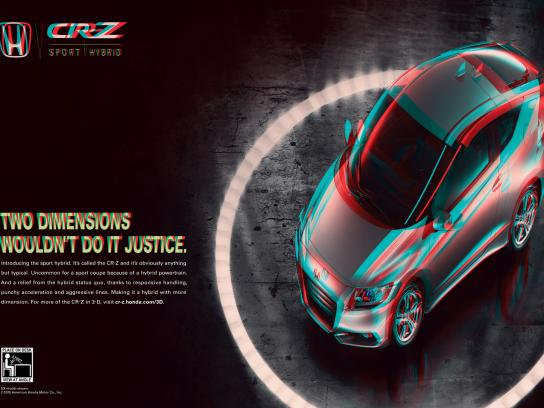 Honda Print Ad -  Two Dimensions Wouldn't Do It Justice