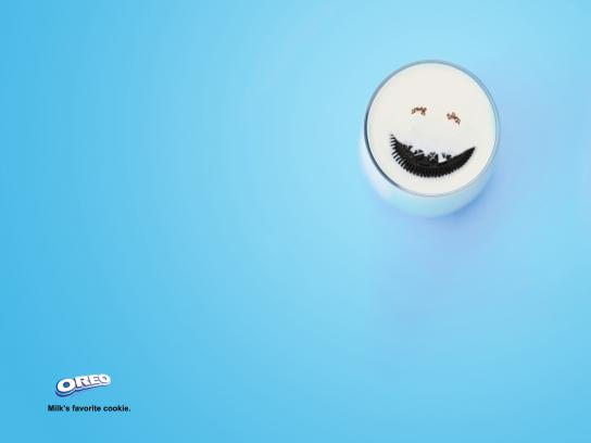 Oreo Print Ad -  Milk's Favorite Cookie