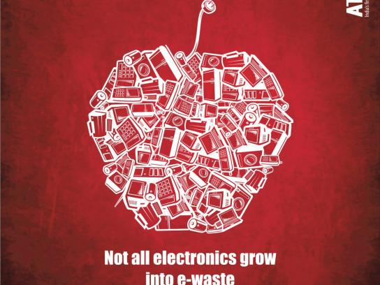 Attero Print Ad -  Not all electronics grow into e-waste