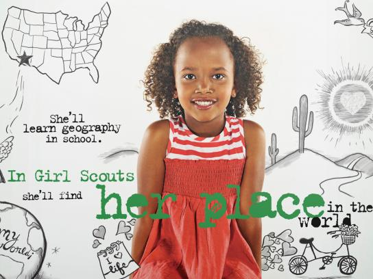 Girl Scouts Print Ad -  It's a Girl's World, 3