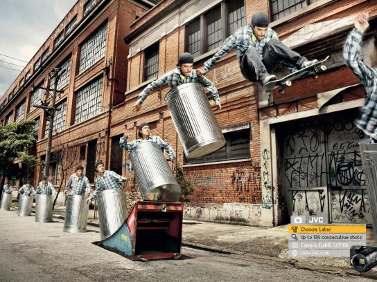 JVC Print Ad -  Choose Later, Skate