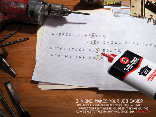 3-IN-ONE Oil Print Ad -  Next