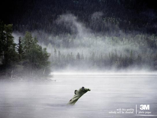 3M Print Ad -  Loch Ness monster