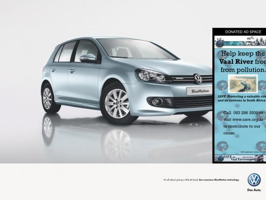 Volkswagen Print Ad -  Save the Vaal Environment