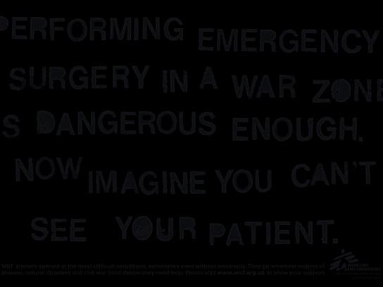 Medecins Sans Frontieres Print Ad -  Darkness