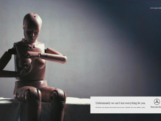 Mercedes Print Ad -  Crash Dummy