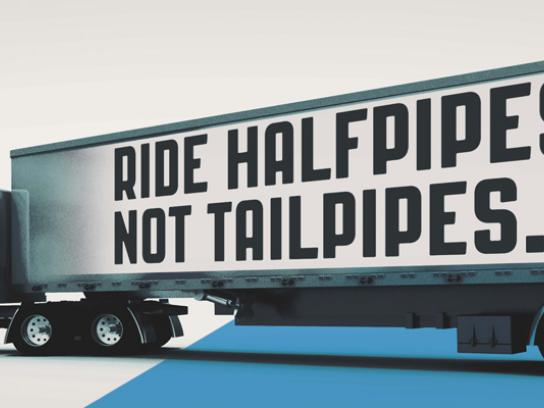 Colorado State Patrol Outdoor Ad -  Halfpipes