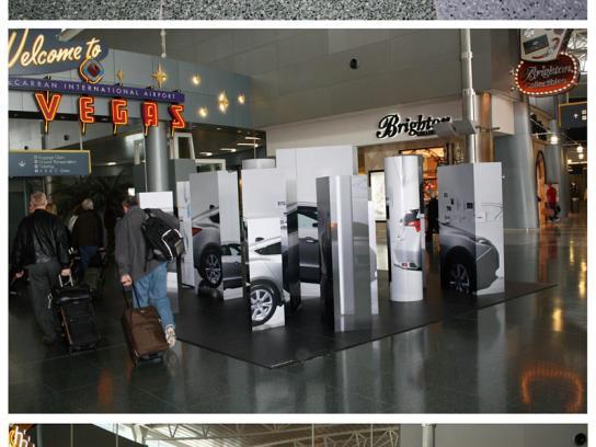 Honda Ambient Ad -  Airport art installation