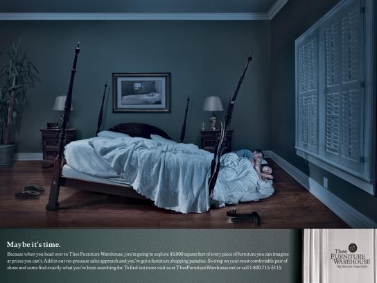 Thee Furniture Warehouse Print Ad -  Bedroom