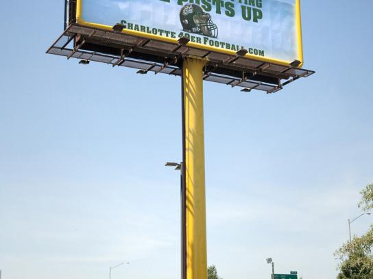 Charlotte 49ers Football Outdoor Ad -  Goal post