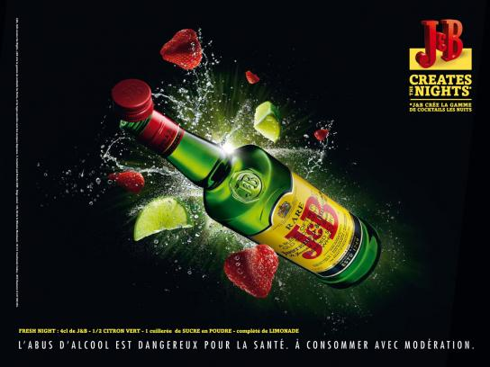 J&B Print Ad -  Strawberry & Lemon