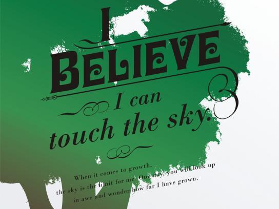 Presidium Print Ad -  I believe I can touch the sky