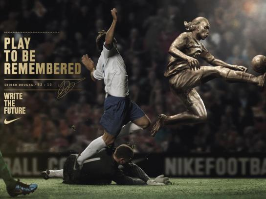 Nike Outdoor Ad -  Write the Future, Drogba
