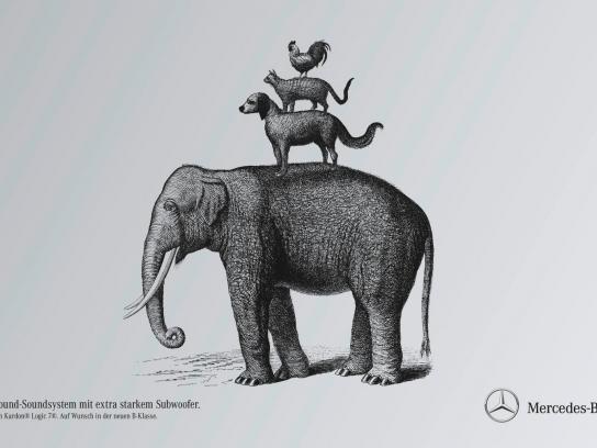 Mercedes Print Ad -  Town musicians