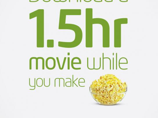 Etisalat Print Ad -  Popcorn