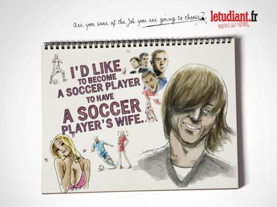 L'Etudiant Print Ad -  Soccer