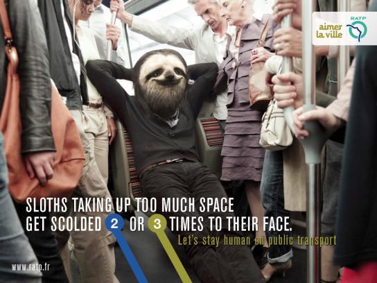 RATP Print Ad -  Sloth