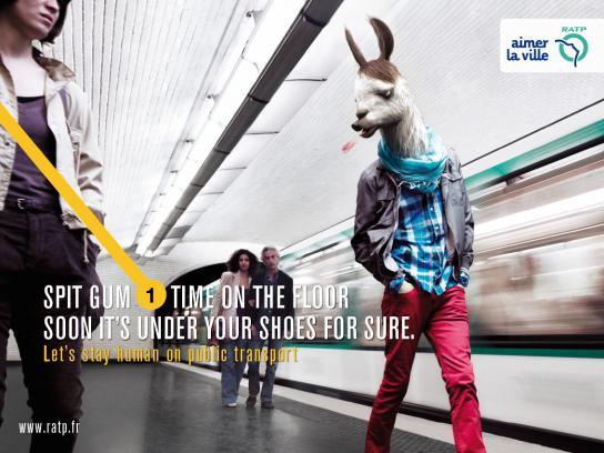 RATP Print Ad -  Donkey