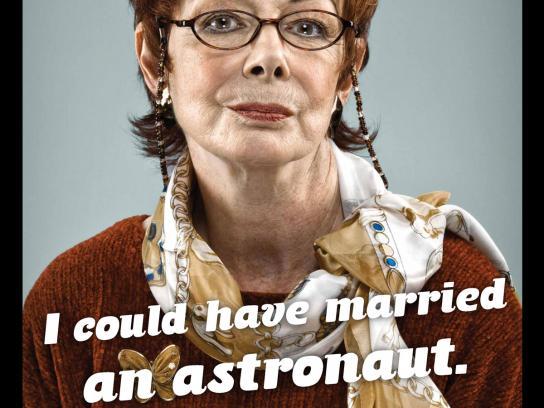 Milio's Sandwiches Print Ad -  Astronaut