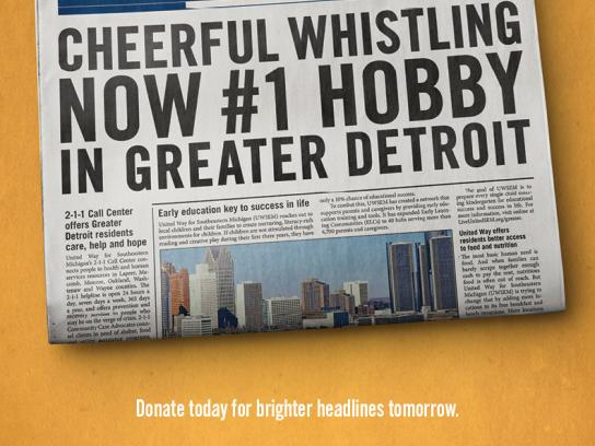 United Way Print Ad -  Whistle