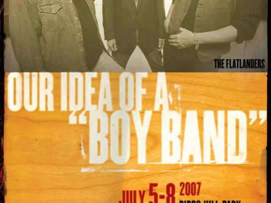 Winnipeg Folk Festival Outdoor Ad -  Boy band