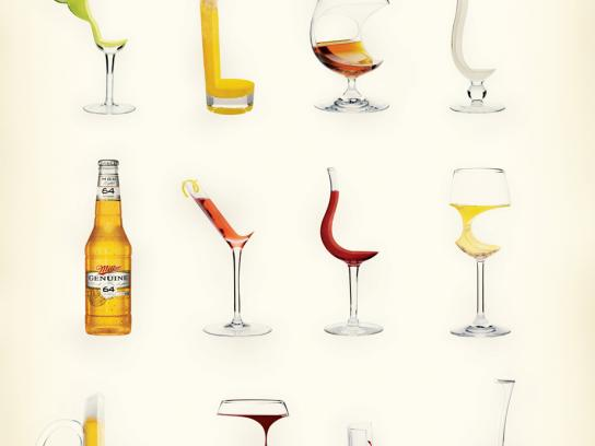 Miller Print Ad -  64 Calorie Collection