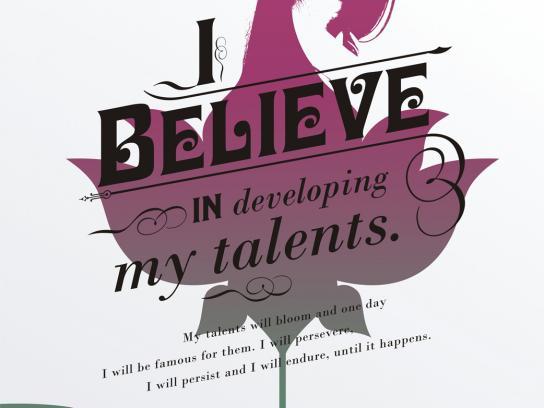 Presidium Print Ad -  I believe in developing my talents