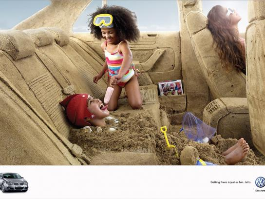 Volkswagen Print Ad -  A trip to the beach