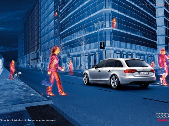 Audi Print Ad -  Thermo vision, Back