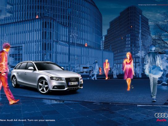 Audi Print Ad -  Thermo vision, Front